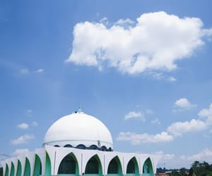 blue, cloud, and muslim image