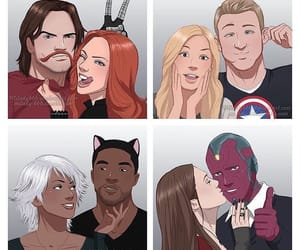 black widow, captain america, and sketches image