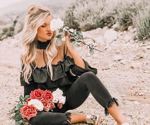 fashion, flowers, and maddieperry image