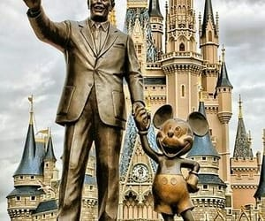 disney, castle, and mickey image