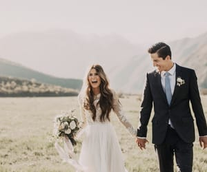 couple, kisses, and laughs image