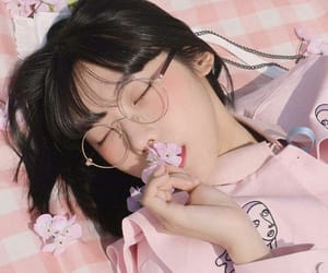 asian, glasses, and girl image