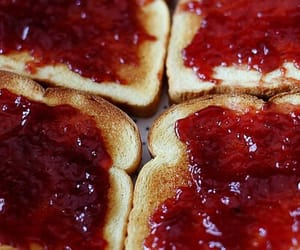 jam, food, and toast image