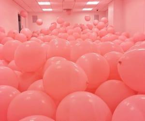 balloon, room, and pink balloon image