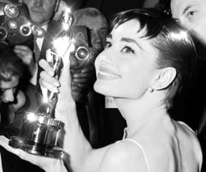 audrey hepburn, oscar, and smile image