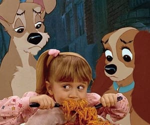funny, the lady and the tramp, and pasta image