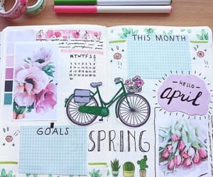 april, bike, and colors image