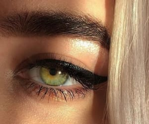 eye, green, and makeup image