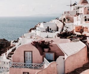 buildings, sea, and travel image