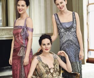 downton abbey, jessica brown findlay, and michelle dockery image