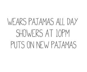 quotes, pajamas, and Sunday image
