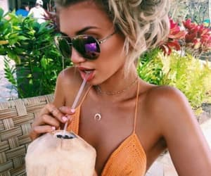 beautiful, coconut, and hair image