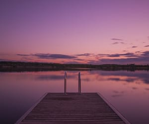 wallpaper, sunset, and purple image