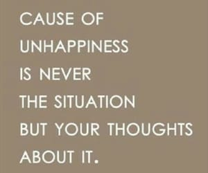quote, eckhart tolle, and unhappiness image