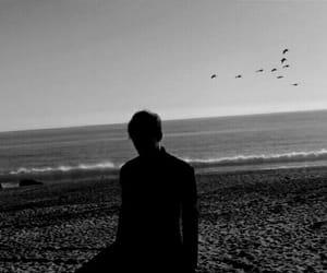 b&w, beach, and black&white image
