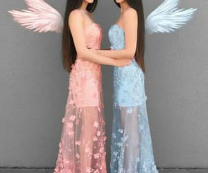 aesthetic, dress, and angel image