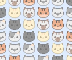 cats, kawaii, and phone wallpaper image