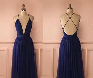 blue dress, Prom, and prom dress image
