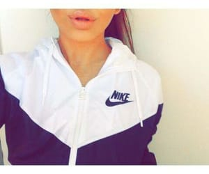 nike, girl, and lips image