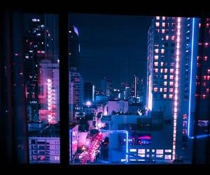 city, lights, and neon image