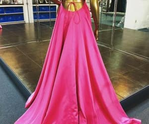 fuchsia prom dress image
