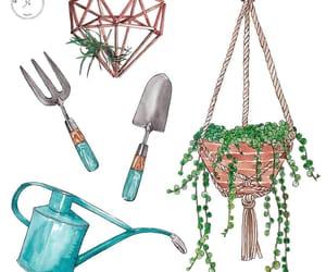dibujo, gardening, and garten image