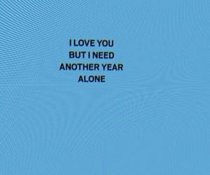 alone, luv, and words image