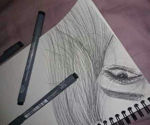 draw, eyes, and twilight image