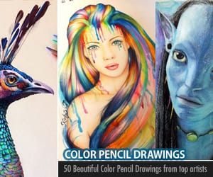 color pencil drawing, color pencil drawings, and color pencil art image