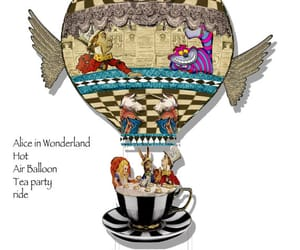 alice in wonderland, mad tea party, and mobile image