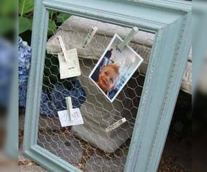 chicken wire, picture frames, and recycle image
