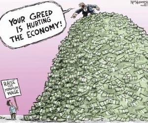 cartoon, economy, and satiric image