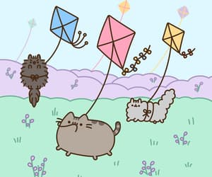 pusheen and background image