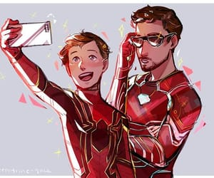 Avengers, iron man, and spiderman image