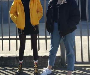 black, coat, and doc martens image