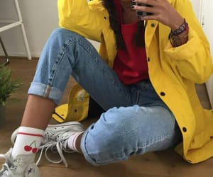 aesthetic, fashion, and yellow image