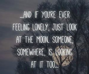 lonely, moon, and somewhere image