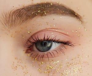 makeup, eye, and glitter image