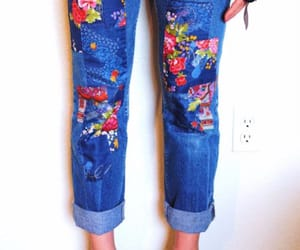 clothing, diy, and old jeans image