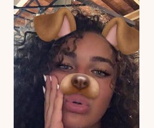 beauty, curly, and eyes image