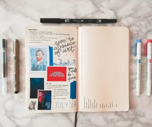 art, planner, and bullet journal image