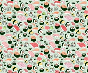 wallpaper, food, and sushi image