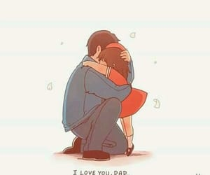 love, dad, and daughter image