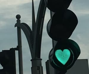 heart, traffic light, and turquoise image