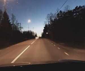 dark, moon, and night image