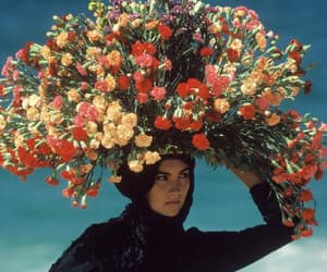 flowers and woman image