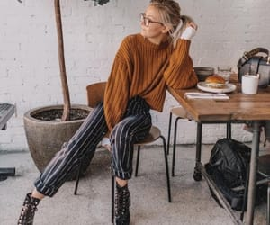 girl, outfit, and sweater image