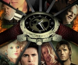 clock, the hunger games, and gale hawthorne image