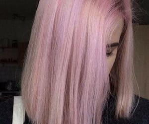 grunge, pink, and hair image