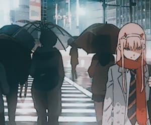 anime, gif, and zero two image